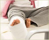 骨折などによる局所の痛み